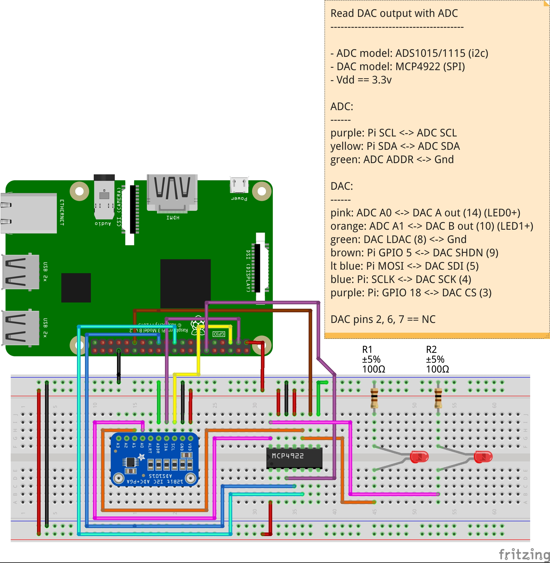 Bit String Manipulation Made Easy With Bitmanip Wiringpi Perl Example Update Breadboard Layout And Schematic Used For The Prototype Testing