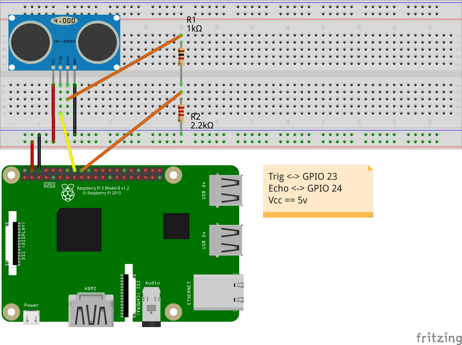 connecting hc sr04 to raspberry pi wiring schematic 51 Ultrasonic Sensor HC-SR04 Ultrasonic Sensor HC-SR04